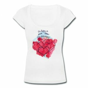be-happy-in-each-others-happiness-women-s-scoop-neck-t-shirt
